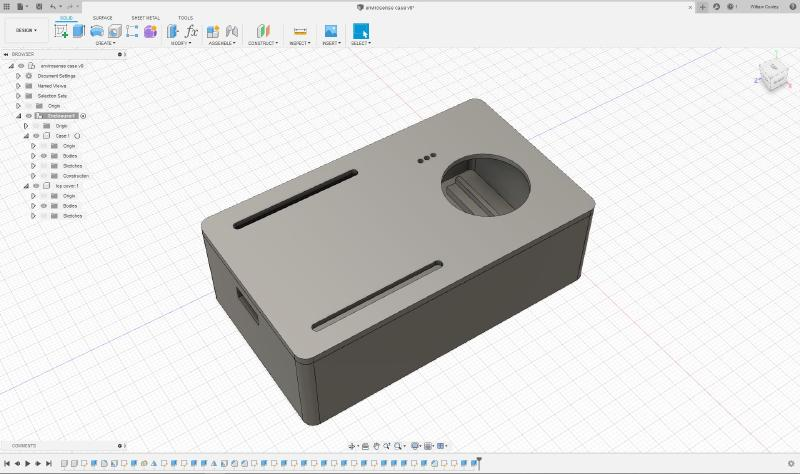 Snap fit enclosure designed in Fusion 360